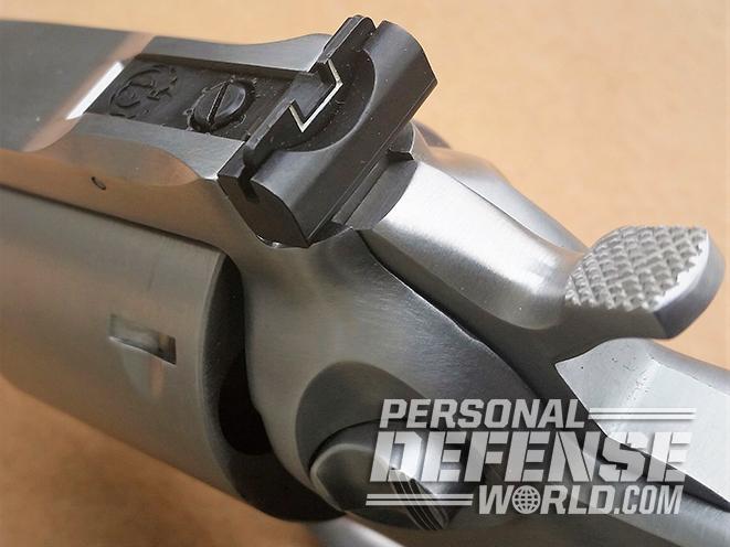 Ruger GP100 .44 Special revolver rear sight
