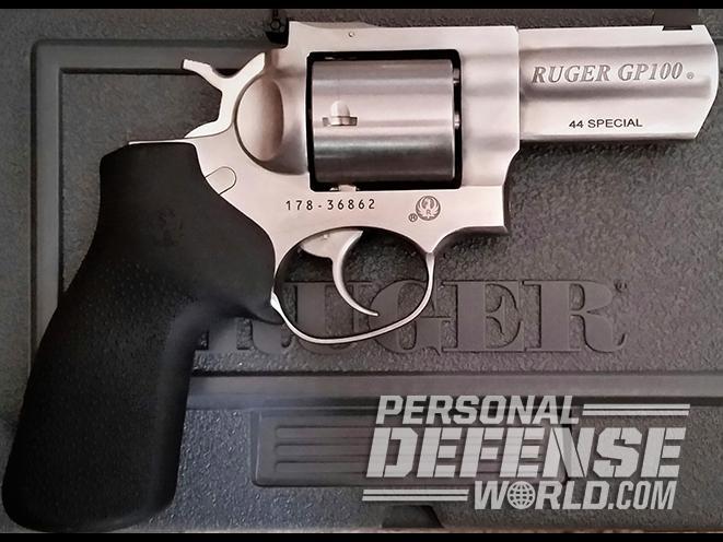 Ruger GP100 .44 Special revolver right profile