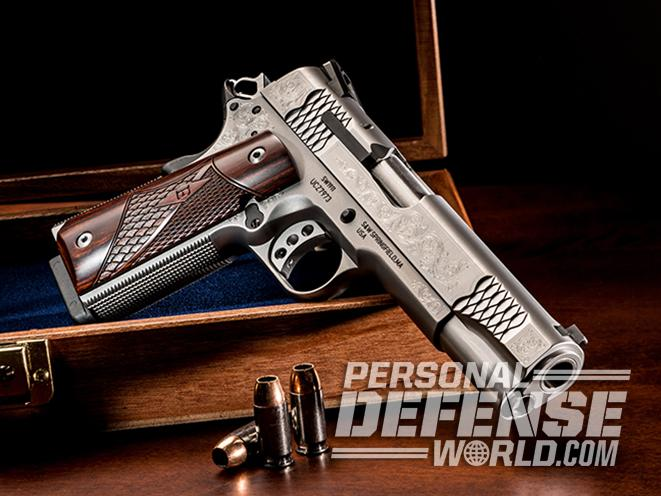 S&W Engraved 1911 handgun