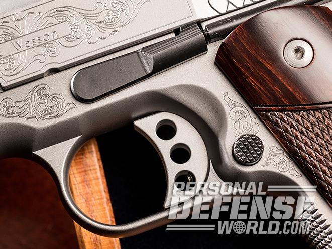 S&W Engraved 1911 trigger