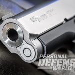 Sig 1911 Two-Tone Ultra Compact pistol muzzle