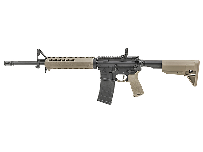 Springfield Saint FDE rifle left profile