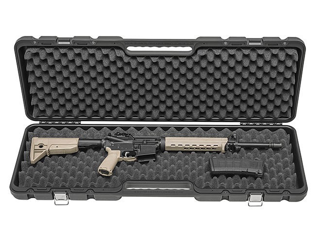 Springfield Saint FDE rifle in case