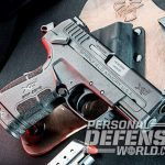Springfield XD-E pistol right angle