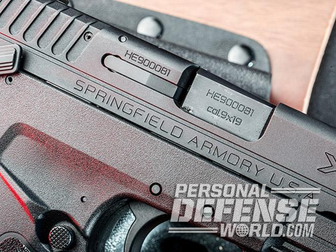Springfield XD-E pistol ejection port
