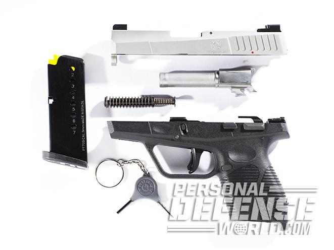 taurus 709 slim pistol disassembled