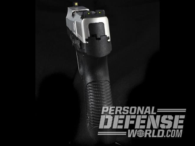 taurus 709 slim pistol truglo sights angle