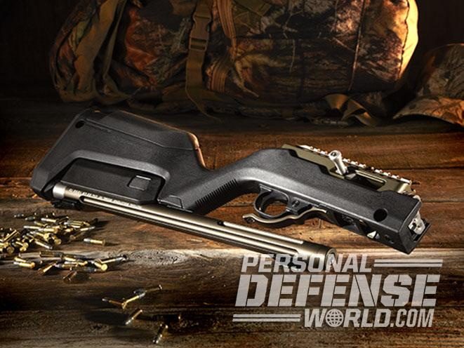 Tactical Solutions X-Ring Takedown rifle split in two