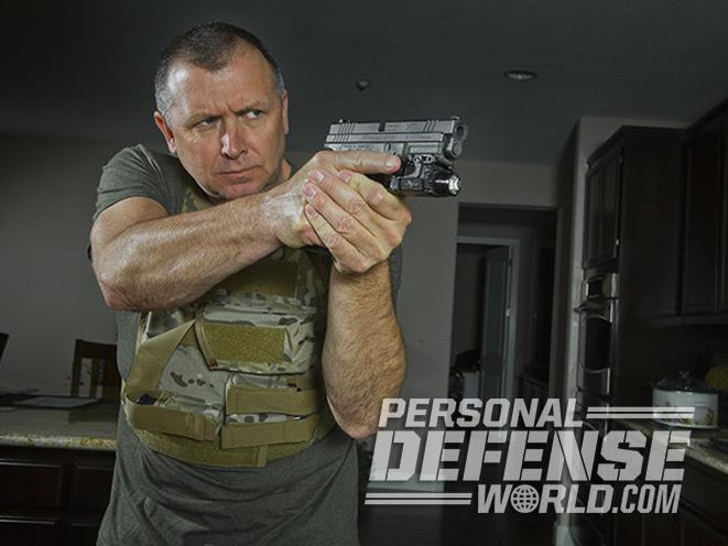 armed homeowner gun