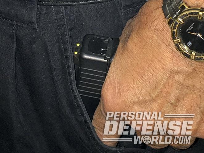 armed homeowner pocket