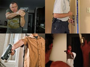 armed homeowner door defense
