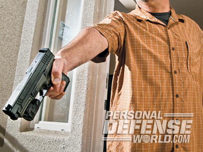 armed homeowner leaves home
