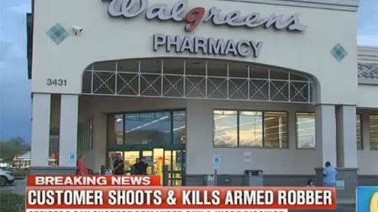 walgreens robbery armed customer