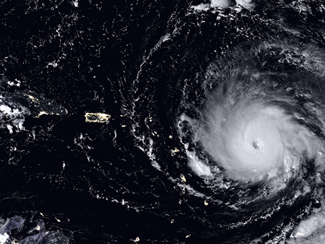 hurricane irma satellite image