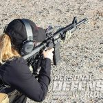 female ar-15 shooter training