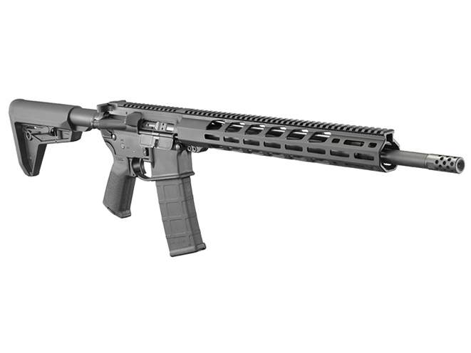 Ruger AR-556 MPR rifle right angle