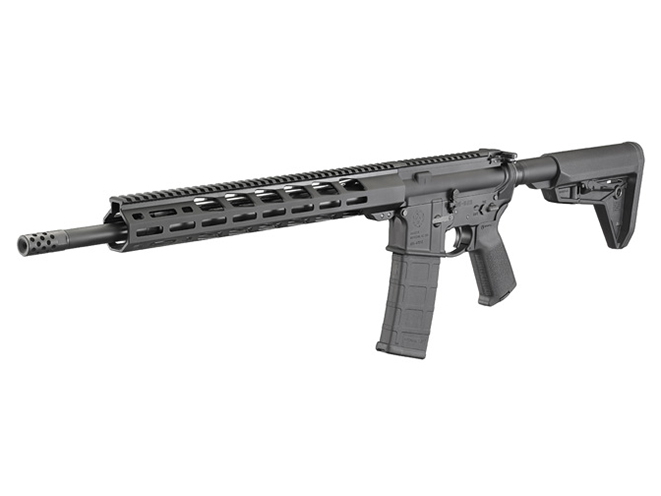 Ruger AR-556 MPR rifle left angle
