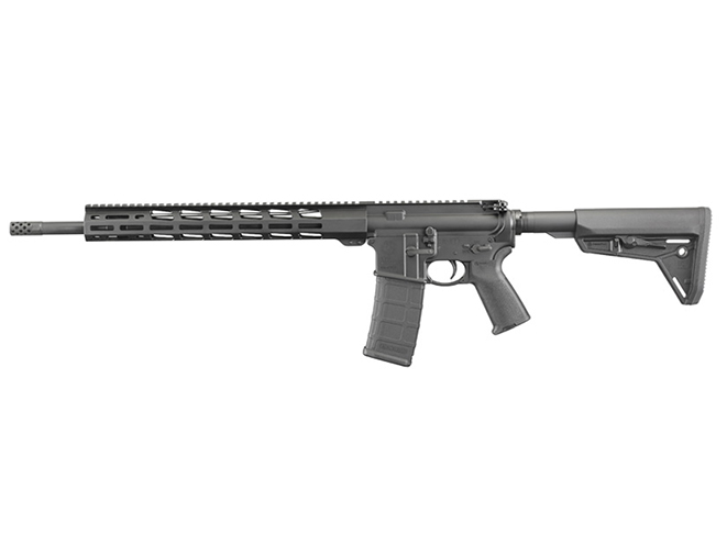 Ruger AR-556 MPR rifle left profile