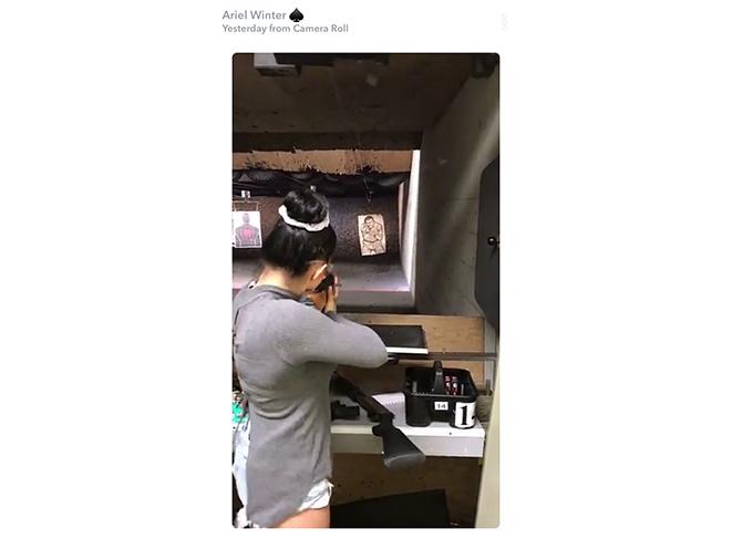 ariel winter shooting range