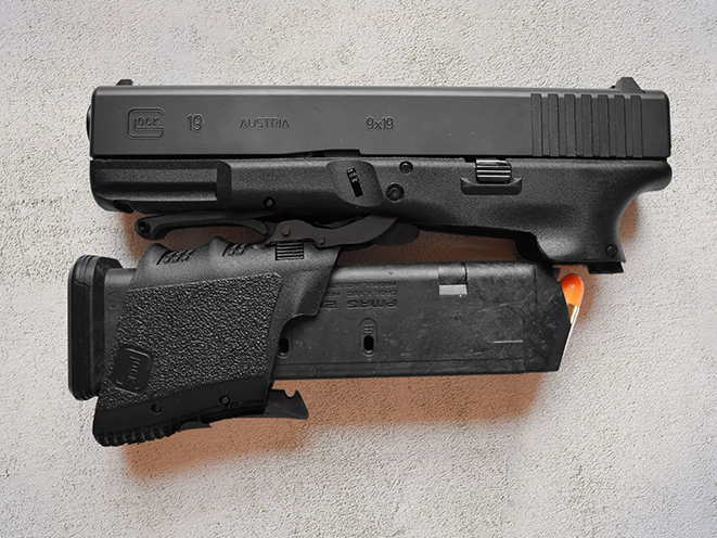 Full Conceal Folding Glock 19 pistol closed