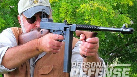 auto ordnance 1927A1 T1-14 tommy gun firing