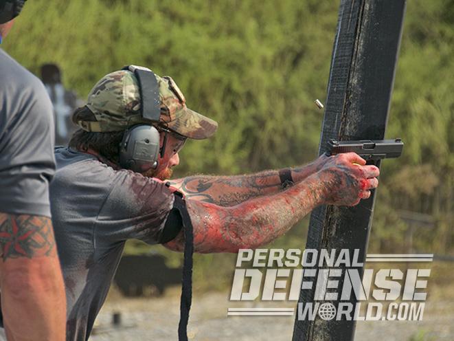 glock 19 edc pistol firing