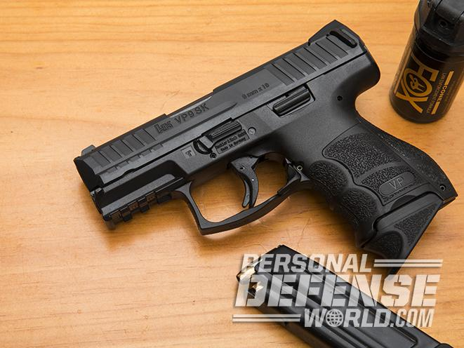 Heckler & Koch VP9SK pistol on table