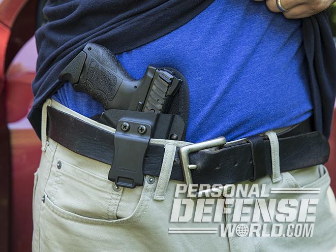 Heckler & Koch VP9SK pistol holstered