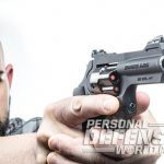 Ruger LCRx revolver pointing