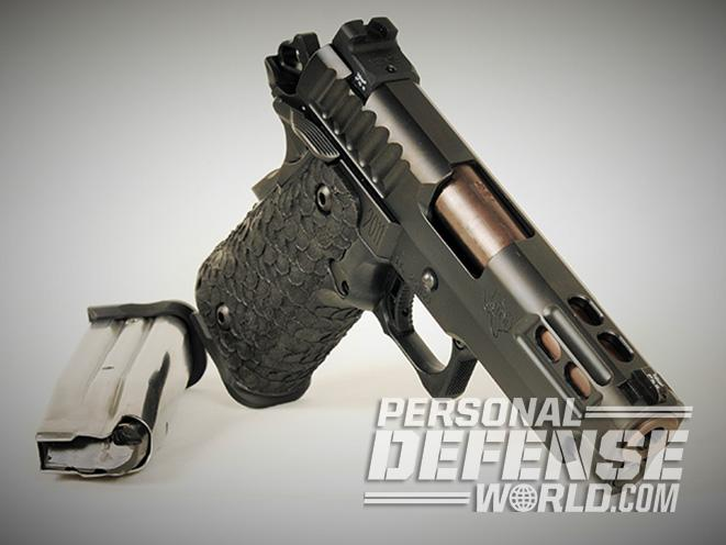 STI DVC Carry pistol right angle