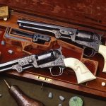 Samuel Colt's Model 1851 old west revolvers