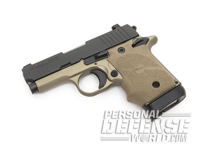 Sig Sauer P938 Combat pistol left angle