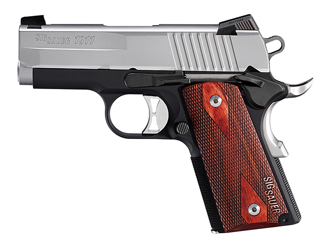 sig sauer pistols 1911 Two-Tone Ultra-Compact