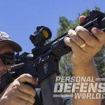 Troy P7A1 pistol firing closeup