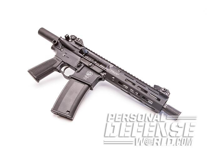 Troy P7A1 pistol right angle