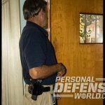 warning shots in doorway