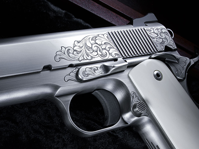 Nighthawk VIP Pistol Gun of the Month October engraving