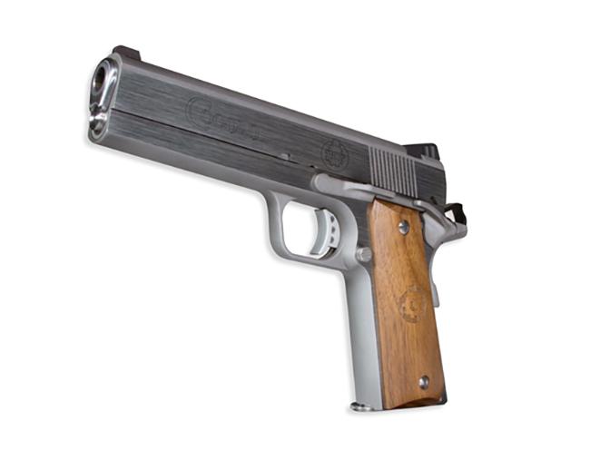 Coonan MOT 10 10mm stainless steel pistol rendezvous left