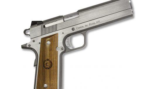 Coonan MOT 10 10mm stainless steel pistol rendezvous right