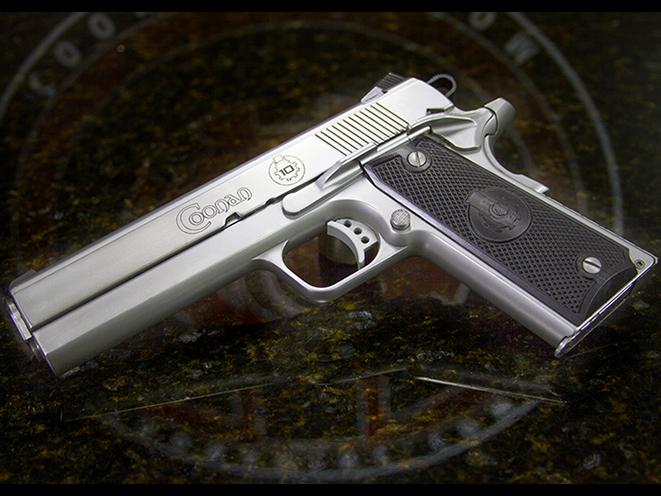 Coonan MOT 10 10mm satin stainless pistol rendezvous