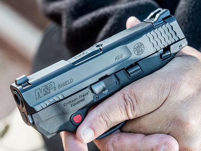 Smith & Wesson M&P Shield M2.0 Pistol athlon outdoors rendezvous Crimson Trace grip