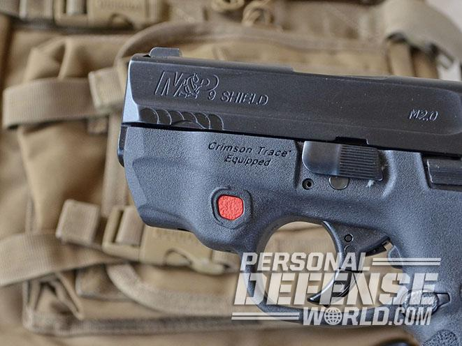 Smith & Wesson M&P Shield M2.0 pistol with laser