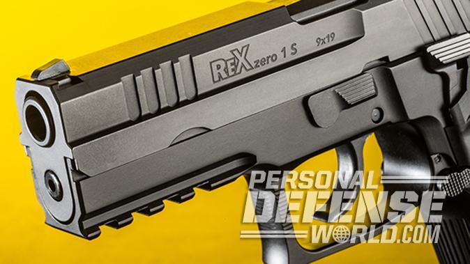 Arex Rex Zero 1S pistol left angle