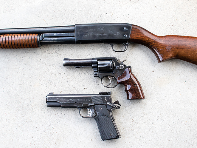 backup gun revolver and 1911