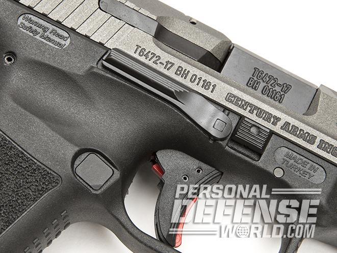 Canik TP9SF Elite pistol trigger