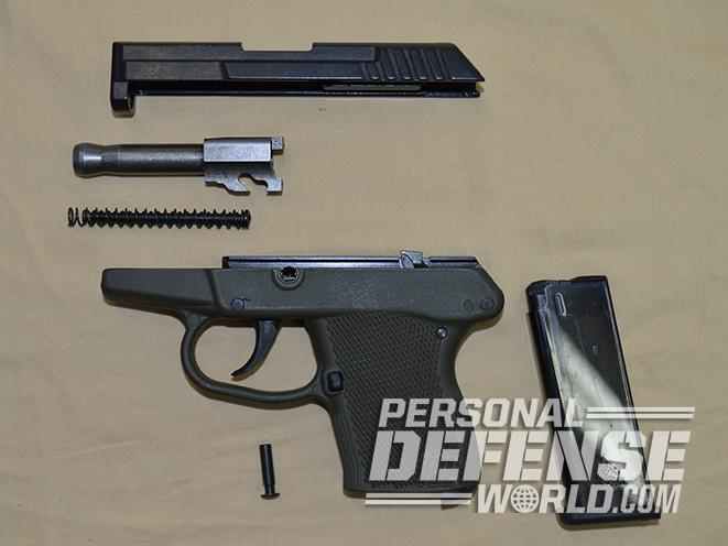 ortgies vest pocket and kel-tec p-32 pistol field stripped