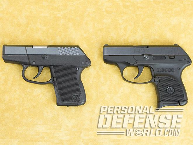 Kel-Tec P-3AT and Ruger LCP battle