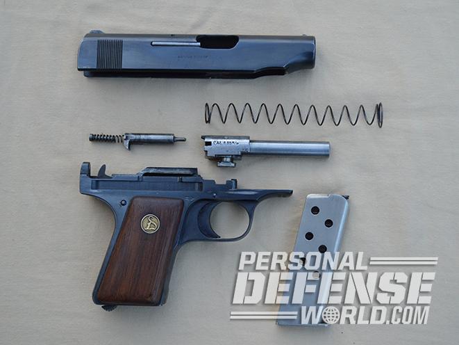Ortgies Vest Pocket pistol field stripped