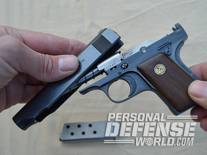 Ortgies Vest Pocket pistol disassembled