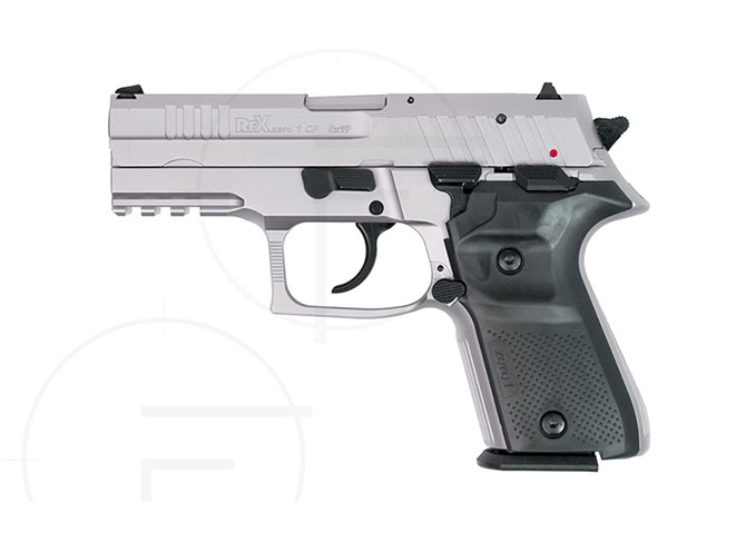 rex pistols nickel plated compact left profile